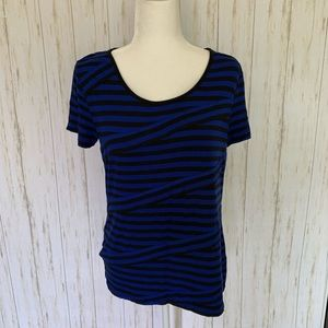 Cable & Gauge Striped Top Shirt